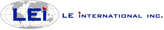 LE International Inc. Logo