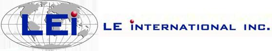 LE International Inc. Logo